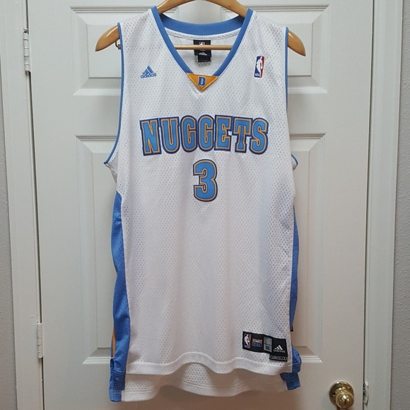 competitive price aefc0 95a6f Adidas Allen Iverson #3 Denver Nuggets Jersey XL